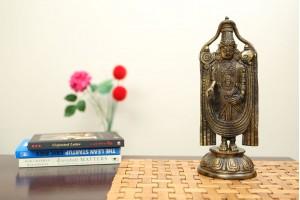 Lacquer Brass Tirupati Balaji Statue