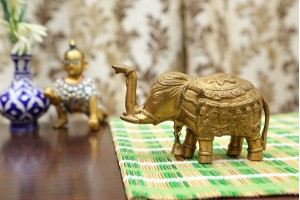 Brass Elephant With Bell In Neck