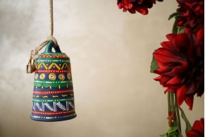 Terracotta Multicolor Large Hanging Bell
