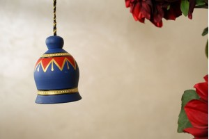 Terracotta Blue Color Antique Bell