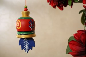 Terracotta Multicolor Hanging Bell