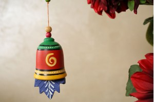 Terracotta Home decor Multicolor Hanging Bell