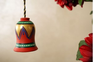 Multicolor Terracotta Earthen Bell