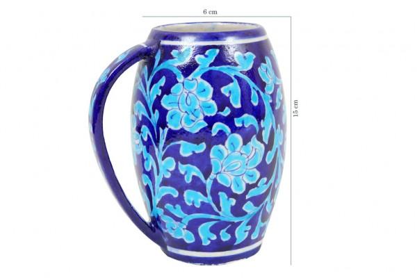 Blue Pottery Blue Beer Mug