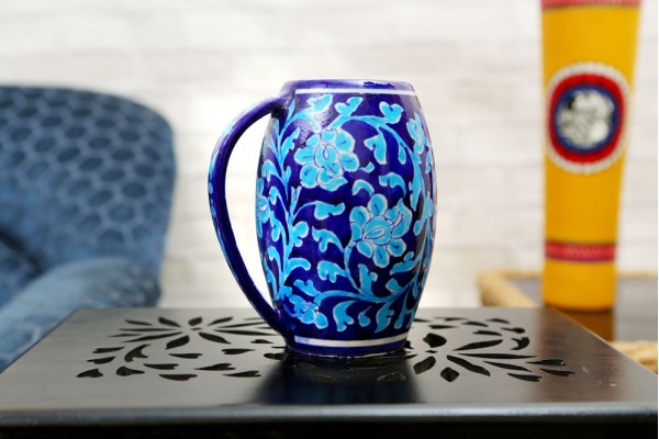 Blue Pottery Blue Beer Mug