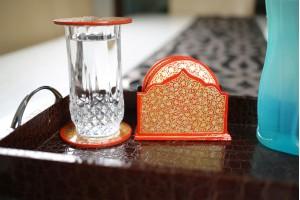 Six Set Of Paper Mache Tea Coaster