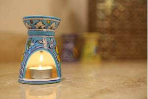 Blue Pottery Light Blue Aroma Diffuser