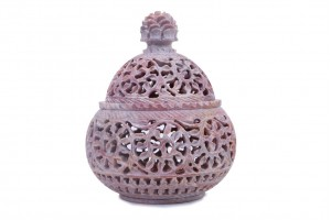 Gorara Stone Handi Shape Large Tea Light Candle Ho...