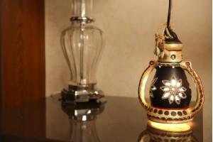 Terracotta Large Black Color Lantern With Light