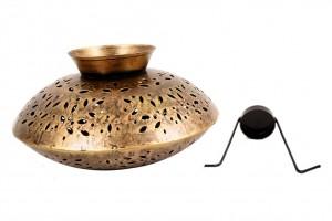 Matki Shape Metal Tea or Candle Light Holder
