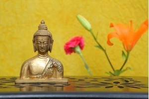 Brass Lord Buddha Bust