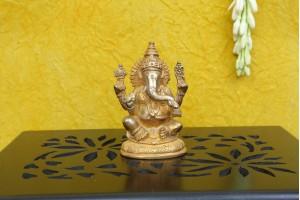 Brass Made Ganesha Figurine