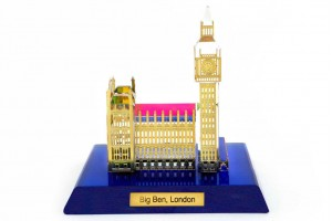 Crystal 24 Karat Gold Plated Big Ben Showpiece