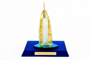 Crystal 24 Karat Gold Plated Small Burj-Al-Arab