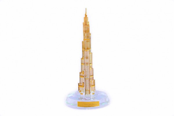 Crystal 24 Karat Gold Plated Burj Khalifa