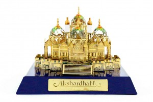 Crystal 24 Karat Gold Plated Akshardham Temple