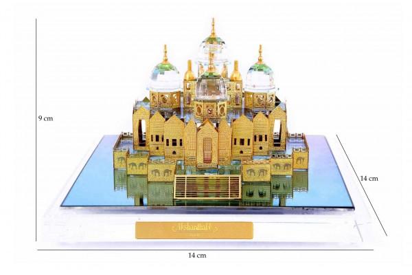 Crystal 24 Karat Gold Plated Large Akshardham Temple