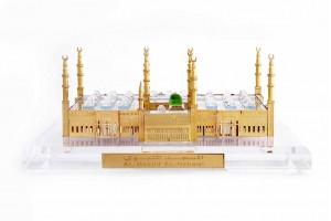 Crystal 24 Karat Gold Plated Medium Al-Masjid-Al-N...