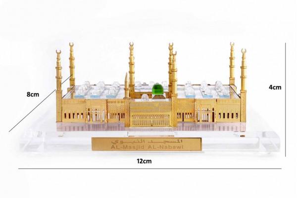 Crystal 24 Karat Gold Plated Medium Al-Masjid-Al-Nawabi