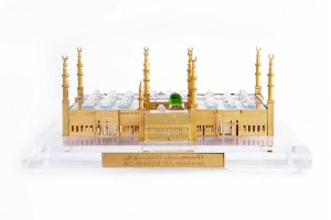 Crystal 24 Karat Gold Plated Large Al-Masjid-Al-Na...