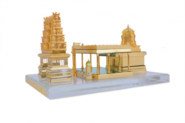 Crystal 24 Karat Gold Plated Medium Tirupati Balaji Temple
