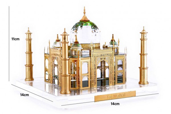 Crystal Large 24 Karat Gold Plated Taj Mahal