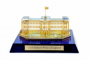 Crystal 24 Karat Gold Plated Small Buckingham Pala...