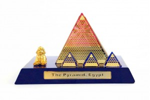 Crystal 24 Karat Gold Plated Small Egyptian Pyrami...