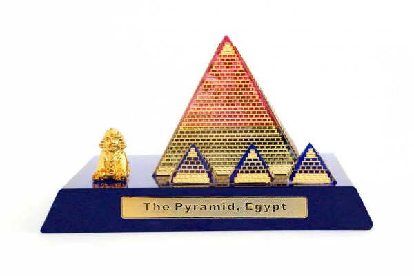 Crystal 24 Karat Gold Plated Small Egyptian Pyramid