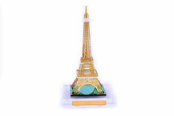 Crystal 24 Karat Gold Plated Medium Eiffel Tower