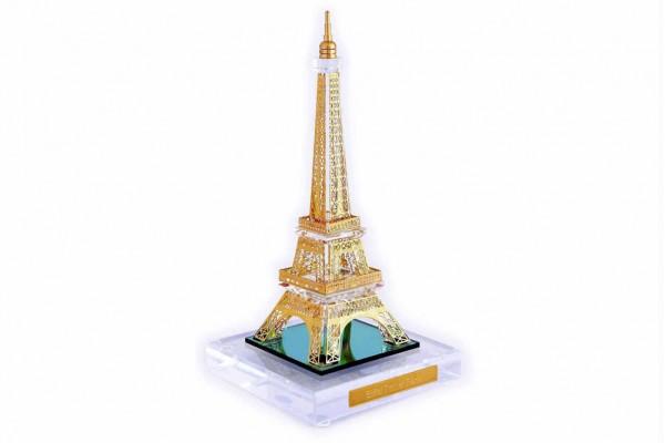 Crystal 24 Karat Gold Plated Medium Eiffel Tower