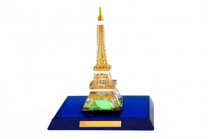 Crystal 24 Karat Gold Plated Small Eiffel Tower