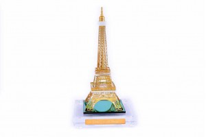 Crystal 24 Karat Gold Plated Large Eiffel Tower