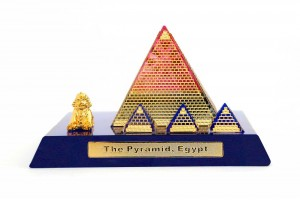Crystal 24 Karat Gold Plated Large Egyptian Pyrami...