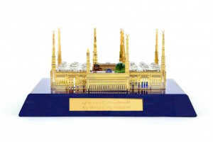 Crystal 24 Karat Gold Plated Small Al-Masjid-Al-Na...