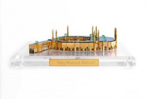 Crystal 24 Karat Gold Plated Large Masjid-al-Haram...