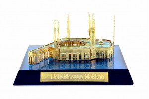 Crystal 24 Karat Gold Plated Small Masjid-al-Haram...