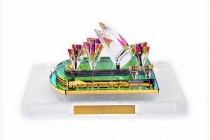 Crystal 24 Karat Gold Plated Large Sydney Opera Ho...