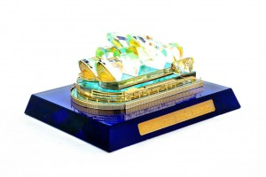 Crystal 24 Karat Gold Plated Small Sydney Opera Ho...