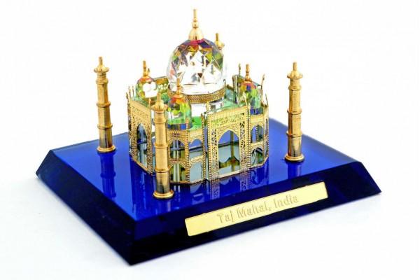 Crystal Small 24 Karat Gold Plated Taj Mahal