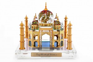 Crystal Medium 24 Karat Gold Plated Taj Mahal