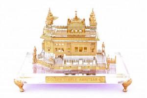 Crystal 24 Karat Gold Plated Medium Golden Temple