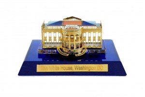 Crystal 24 Karat Gold Plated Small White House