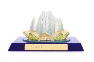 Crystal 24 Karat Gold Plated Small Lotus Temple