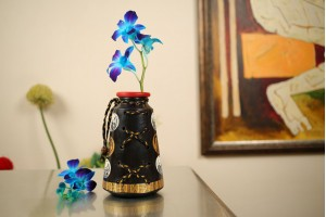Terracotta Extra Large A Shape Jute Vase