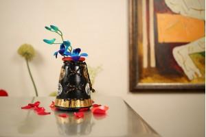 Terracotta Large A Shape Jute Vase