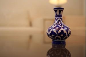 Blue Pottery Surahi